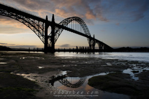 Yaquina Bay Brigde at sunrise, Newport, OR